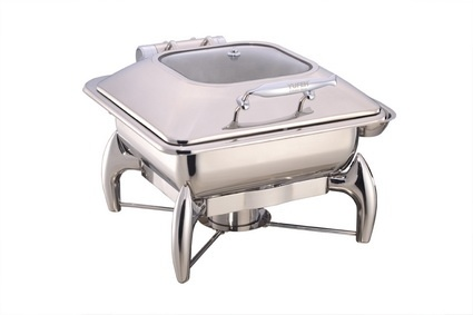 China Rectangular Chafing Dish with Glass Lid