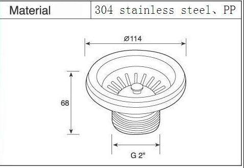 Kitchen Sink Strainer Waste Plug