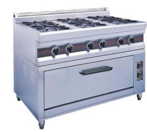 Six-Head Gas Cooker with Electric Oven