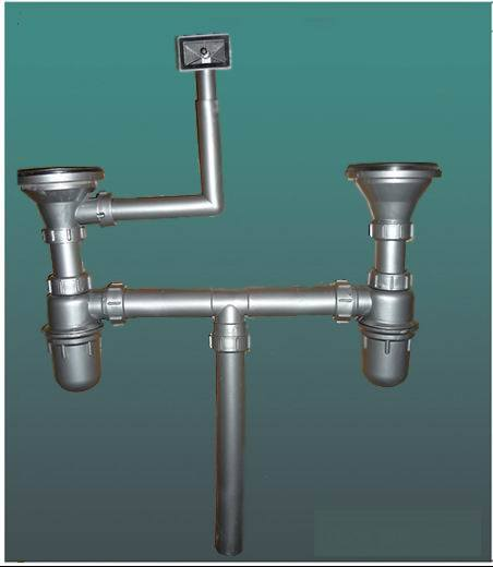 Double Kitchen Sink Plumbing Kit