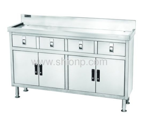 Stainless Steel 4 Doors Working Desk